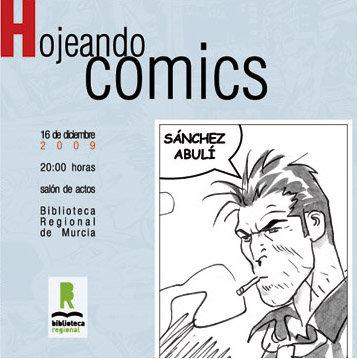 Portada folleto de Enrique Sánchez Abulí en Hojeando Cómics