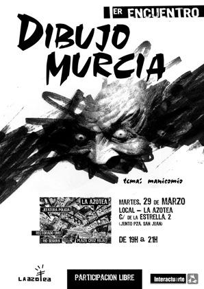 Cartel Primer Encuentro Dibujo Murcia